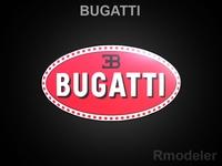 Bugatti 3d logo 3D Model