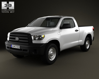 Toyota Tundra Regular Cab 2011 3D Model