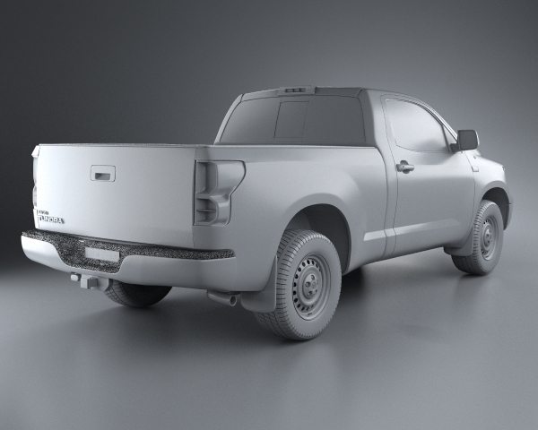 toyota tundra regular cab 2011 3d model. Black Bedroom Furniture Sets. Home Design Ideas