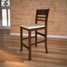 "Ashley Lynx 24"" Barstool 3D Model"
