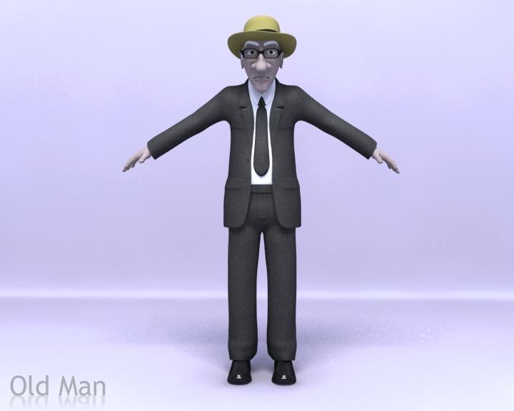 Old Man Rig 3D Model 9c9e0700d345