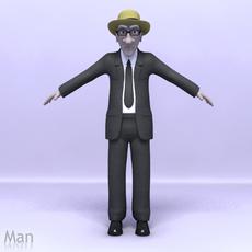 Old Man Rig 3D Model