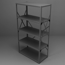 Office Racking 3D Model
