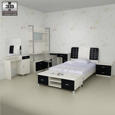 Nursery room furniture 06 Set 3D Model