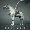 02 46 48 253 pegasus winged horse white 3d model free 4