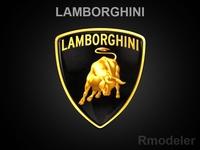 Lamborghini 3d Logo 3D Model
