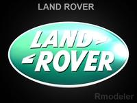 Land Rover 3d Logo 3D Model