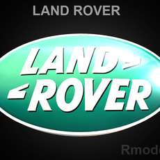 Land Rover 3d Logo 3D Model