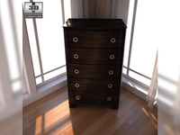 Ashley Pinella Chest 3D Model