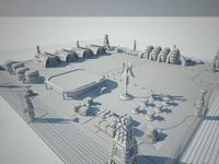 Scifi military base 3D Model