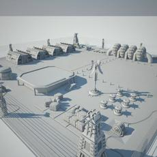 Scifi military base 3D Model