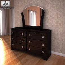 Ashley Pinella Dresser & Mirror 3D Model