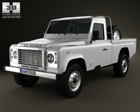 Land Rover Defender 110 High Capacity PickUp 2011 3D Model
