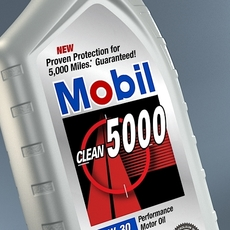 Mobil Motor Oil 946 ml 3D Model
