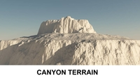 3d Terrain Canyon 3D Model