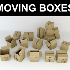 Moving Boxes 3D Model