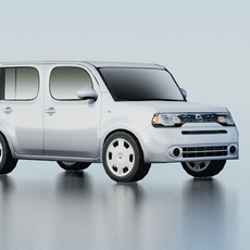 Nissan Cube Low Poly 3D Model