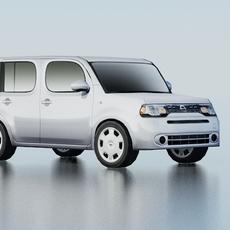 Nissan Cube Low Poly 3D Model