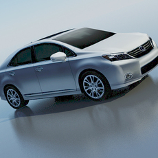 Lexus HS 2010 lowpoly 3D Model
