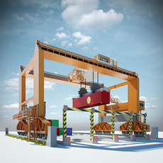 RMG Gantry Crane 3D Model