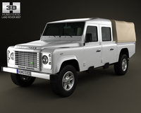 Land Rover Defender 130 High Capacity Double Cab PickUp 3D Model