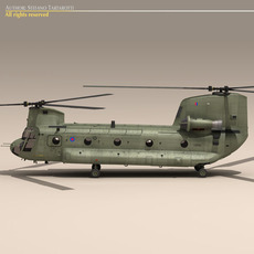 Ch-47 RAF Helicopter 3D Model