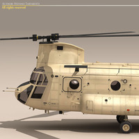 Ch-47 EAF Helicopter 3D Model