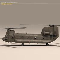 CH-47 Esercito Italiano Helicopter 3D Model