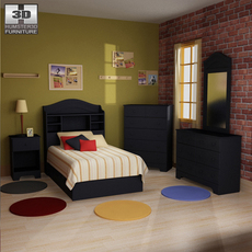 Bedroom Furniture 21 Set 3D Model
