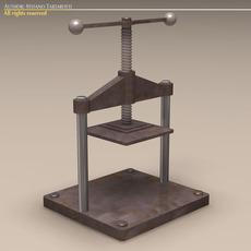 Screw Press 3D Model