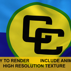 CARICOM 3d Logo 3D Model