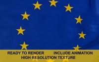 Evropean Union 3d Flag 3D Model