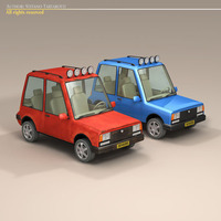 Cartoon Suv 3D Model