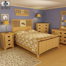Bedroom Furniture 22 Set 3D Model