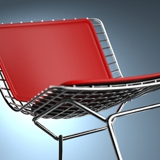 Bertoia Wire Side chair & Bar Stool 3D Model