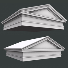Roman Tuscan Pediment and Architrave low high poly 3D Model 3D Model