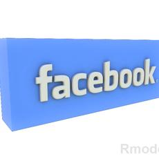 FaceBook 3d Logo  3D Model