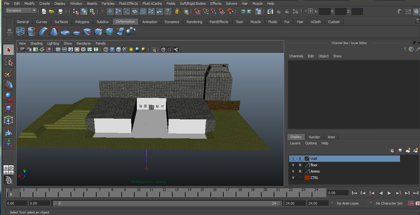 Minecraft scene for Maya