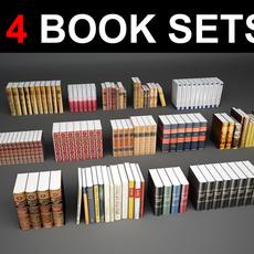 14 Books 3D Model