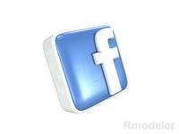 FaceBook letter 3d Logo 3D Model