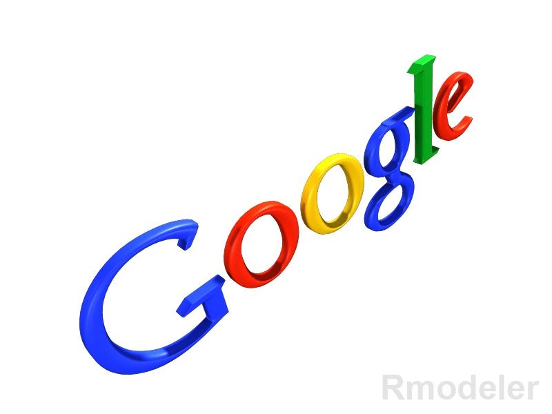 Google 3d Logo 3d Model
