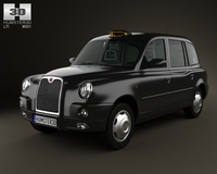 LTI TX4 London Taxi 3D Model