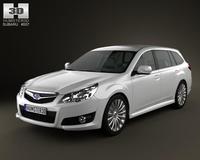 Subaru Legacy tourer 2010 3D Model