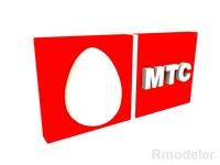 MTC 3d Logo 3D Model