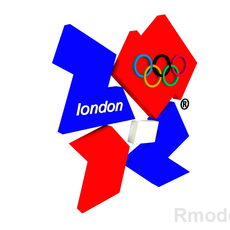 London Games Olimpic 2012 3d Logo 3D Model