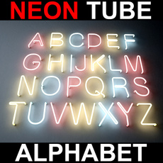 Neon Tube Alphabet 3D Model