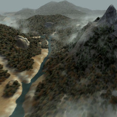 Landscape forest enviroment 3D Model