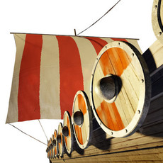original viking ship 3D Model