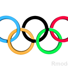 Olympic 3d Logo 3D Model