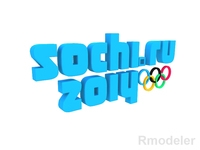 Olympic Games Sochi 2014 3d Logo  3D Model